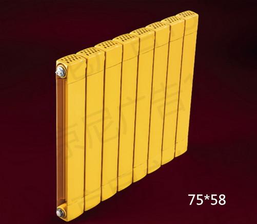太诺铜铝复合散热器-75*58